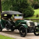 Based upon Fitzgerald's description of Gatsby's Rolls-Royce, the model may well have been the 1922 Silver Ghost, pictured here in green.