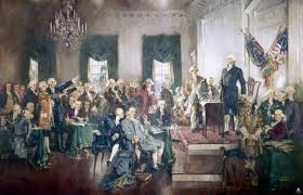 Howard Chandler Cristy's 1940 painting depicting the signing of the Constitution. The painting hangs in the U.S. Capitol.