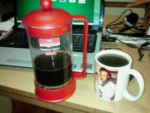 My new, red French Press