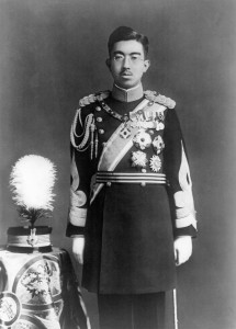 Imperial Japanese Emperor Hirohito in dress uniform.