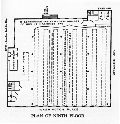 Plan of the 9th floor