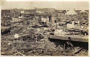Griffin lies in devastation following the tornado of March 18, 1925