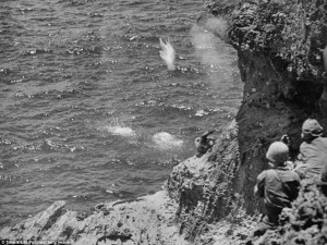 Over 1,000 Japanese civilians jumped to their deaths rather than surrender to US forces.