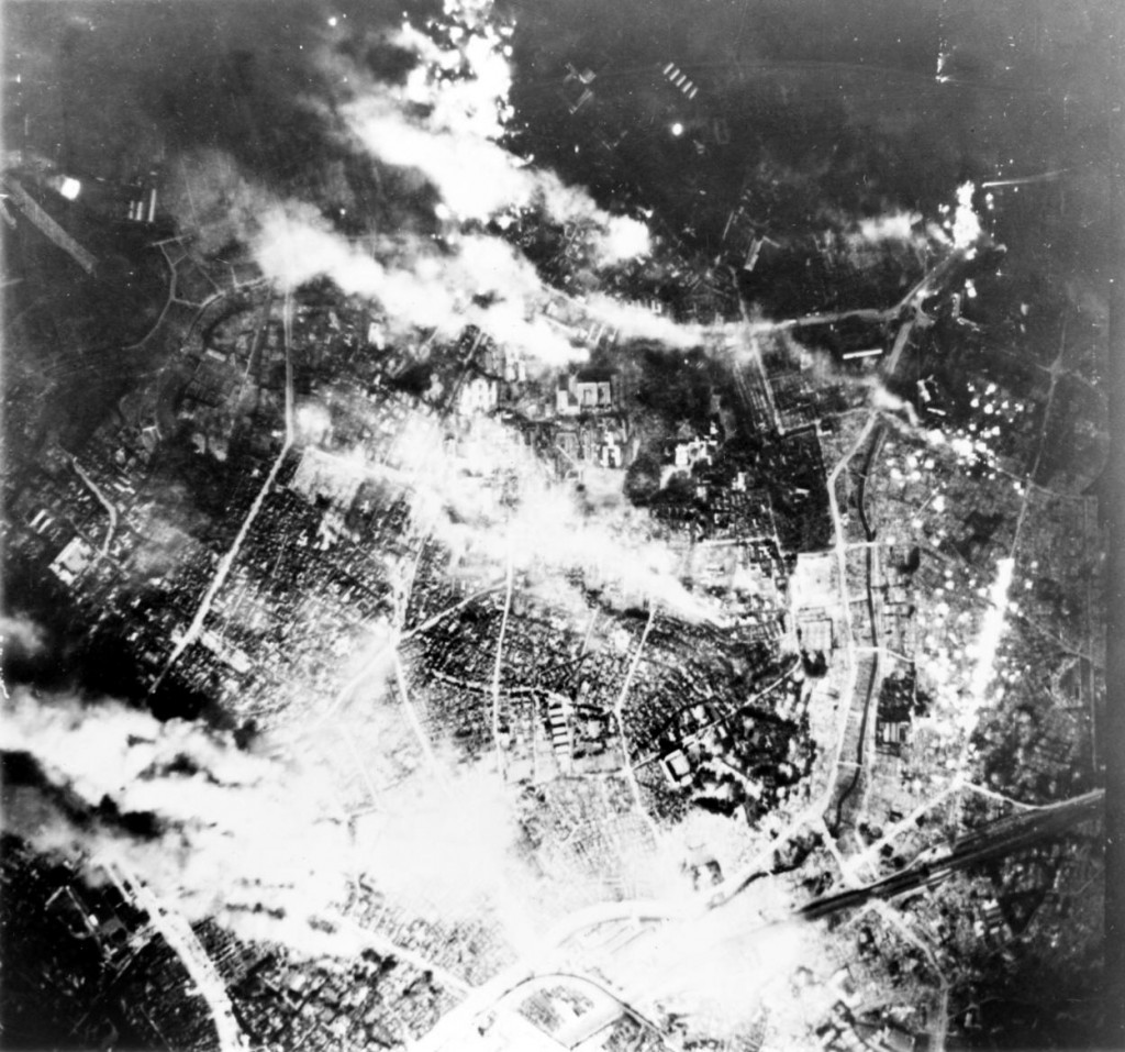 Tokyo was bombed with incendiaries on the night of March 9-10, 1945. More than 16 square miles of the city were completely destroyed. A minimum of 80,000 Japanese civilians died in that one raid alone.